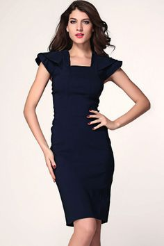Ruffled Sleeve Bodycon Dress