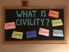 What is Civility? What Is Integrity, Ra Bulletins, Ra Bulletin Boards, Res Life, Civilization, University, Community College, Colleges