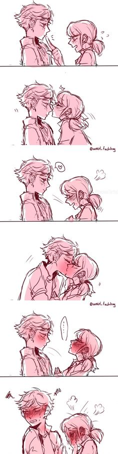 Marinette and Adrien | Kiss | Miraculous Ladybug | love -