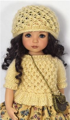 Red Fashion, Cute Fashion, Fashion Dolls, Fashion Outfits, Crochet Doll Clothes, Knitted Dolls, Child Doll, Daughter Love, Vintage Dolls