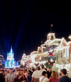 Disney's Magic Kingdom - Main St at Christmastime. An amazing site. No one does Christmas like Disney.