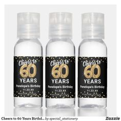 Cheers to 60 Years Birthday Hand Sanitizer Forty Birthday, Birthday Cheers, Birthday Favors, Birthday Party Favors, Travel Size Bottles, Stationery Store, Milestone Birthdays, Hand Sanitizer, Travel Size Products