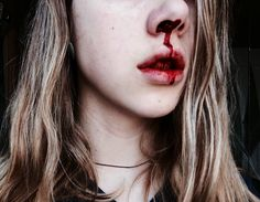 I lost my soul long ago. Gore Aesthetic, Jennifer's Body, Battle Scars, Blood Sweat And Tears, Dark Photography, Sanrio, Best Makeup Products, Character Inspiration, Art Reference