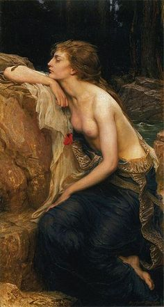 A painting (Herbert James Draper,1909) of Lamia, the queen of Libya who became a daemon according to Greek mythology.