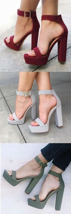 New Chunky Heel Platform Sandals