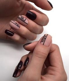 65 Cute Short Acrylic Square Nails Ideas For Summer Nails These trendy Nails ideas would gain you amazing compliments. Check out our gallery for more ideas these are trendy this year. Square Nail Designs, Short Nail Designs, Black Nail Designs, Nail Art Designs, Nails Design, Stylish Nails, Trendy Nails, Cute Nails, My Nails