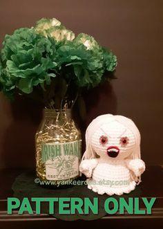 Baby Banshee Irish Mythology - St. Patrick's Day - Amigurumi Doll - CROCHET PATTERN ONLY Irish Mythology, Fandoms Unite, Amigurumi Doll, St Patrick, Crochet Patterns, Cosplay, Invitations, Dolls, Christmas Ornaments