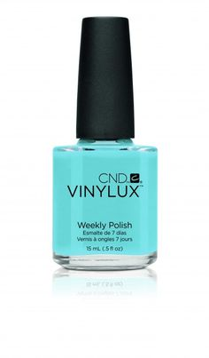 CND Vinylux AZURE WISH ... Vinylux Weekly Polish is a breakthrough polish that endures a week of fashion perfection… without a base coat!