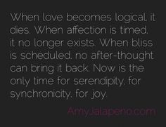 when love becomes logical