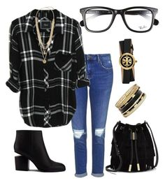 """""""Untitled #20"""" by m2415m on Polyvore featuring Topshop, Alexander Wang, Tory Burch, GUESS, Vince Camuto and Ray-Ban"""