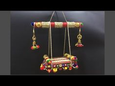 How to make jhula for Bal Gopal at home Diy Crafts Hacks, Diy Crafts For Gifts, Diy Home Crafts, Arts And Crafts, Thali Decoration Ideas, Diy Diwali Decorations, Housewarming Decorations, Art N Craft, Craft Stick Crafts