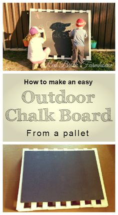 #pallet #diy #project #skid #chalkboard #chalk #chalkpaint Chalk Paint, Pallet, Chalkboard, About Me Blog, Boards, Easy, Projects, Movie Posters, How To Make