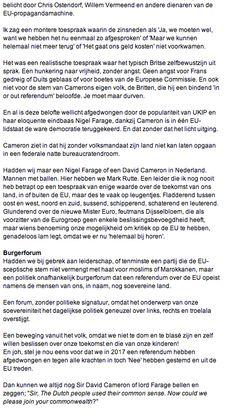My Column in Volkskrant Opinie Nr 27 part 2