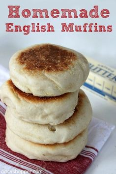 This Homemade English Muffins Recipe is my new favorite recipe. These English Muffins are filled with nooks and crannies, tasting so much better than store