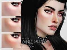 Wind Glow Blush N42 by Praline Sims for The Sims 4