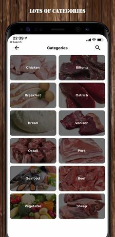 Venison, Beef, Biltong, Oxtail, App Store, Google Play, Seafood, Pork, Apple