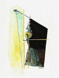 Ondrejkova / Wind catcher Catcher, Paintings, Paper, Paint, Painting Art, Painting, Painted Canvas, Drawings, Grimm
