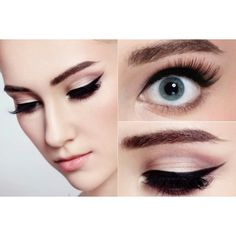 Cat Eye Makeup and Smokey Cat Eyes ❤ liked on Polyvore