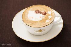 カフェラテ Hello Kitty Cafe in Yokohama