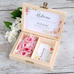 PREZENT dla Świadkowej w drewnianym pudełku Wild Flowers Wedding Ring Box, Wedding Cards, Diy Wedding, Wedding Day, Catering, Decorative Boxes, Projects To Try, Wedding Inspiration, Wedding Dresses