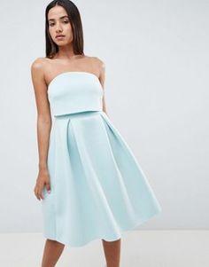 ASOS DESIGN Bandeau Crop Top Prom Midi Dress  musthavefashion  inspiration   mode  TrendingNow dabd5c7836b