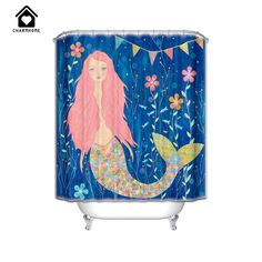 Cheap curtains waterproof, Buy Quality shower curtain waterproof directly from China mermaid shower curtain Suppliers: