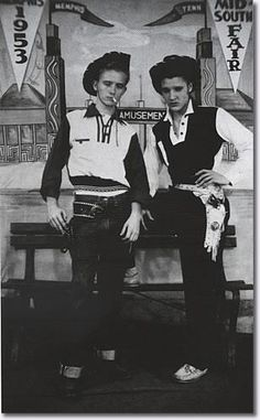 Very young Elvis and friend