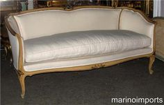 Elegant French Painted Louis XV Sofa Settee Daybed Canapé Sofa