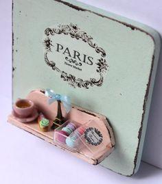 ♡ ♡  Shabby chic mint romantic vintage Paris por ManthaCreaMiniatures
