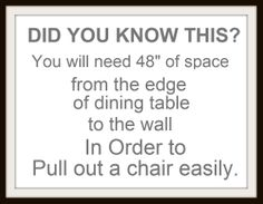 Keep this in mind when purchasing your table