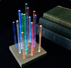 Color Changing Rods Night Light // 41 Coolest Night Lights To Buy Or DIY