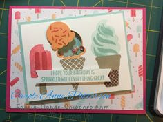 Tasty Treats Shaker Card for a swap #fabricpaperscissors