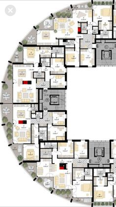 48 New Ideas Apartment Building Modern Floor Plans Architecture Drawing Plan, Concept Architecture, Classical Architecture, Architecture Colleges, Computer Architecture, Architecture Geometric, Landscape Architecture, Architecture Diagrams, Architecture Design