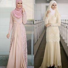 [ Fatin Fashiekin Idea Baju Nikah ] - Best Free Home Design Idea & Inspiration Muslim Wedding Gown, Malay Wedding Dress, Muslimah Wedding Dress, Muslim Dress, Sexy Wedding Dresses, Bridal Dresses, Dress Muslimah, Hijab Stile, Muslim Fashion