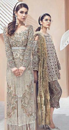 Pakistani Fashion Party Wear, Pakistani Wedding Outfits, Pakistani Dresses, Indian Outfits, Indian Fashion, Stylish Dresses, Fashion Dresses, Desi Clothes, Party Wear Dresses