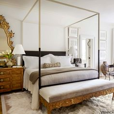 Collected neutral bedroom - mix of styles - Tara Shaw