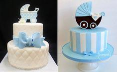 vintage pram cakes by Cake Studio LA left and Pastrychik right