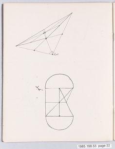 "Bauhaus Archive, Notes ""Primare Gestaltung"" Gertrud Preiswerk (German (born Swiss), Basel 1902–1994)"