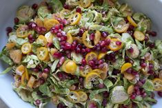 Pomegranate and Citrus Salad with Brussels Sprouts ©2014 The Conscious Kitchen