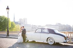 Truth be told, I've seen A LOT of weddings. But this Paris elopement pretty much takes the cake on romance. I'm talking vows in the Chapelle Expiatoire, photos by the Eiffel Tower, and glam-driven s. Paris Elopement, Paris Wedding, Wedding Car, When I Get Married, I Got Married, Wedding Photography Inspiration, Wedding Inspiration, Wedding Ideas, Wedding Images