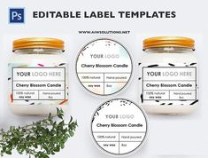 Label Template Id Aiwsolutions regarding Storage Label Templates - Professional Templates Ideas Jam Label, Honey Label, Candy Labels, Soap Labels, Minimalist Candles, Cosmetic Labels, Candle Packaging, Juice Packaging, Label Templates