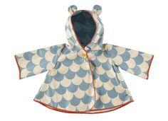 Raincoat Venezia blue scales