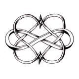 Double Heart Infinity Black Symbol