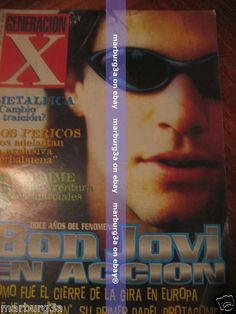BON JOVI IN MAGAZINE ofArgentina 1996 METALLICA VAN DAMME