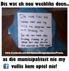 Afrikaanse grappe en humor. Afrikaans, South Africa, Jokes, Funny, Van, Humor, Husky Jokes, Animal Jokes, Funny Jokes