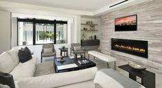 Wohnzimmer Stilvoll Einrichten Weisses Sofa Natursteinwand