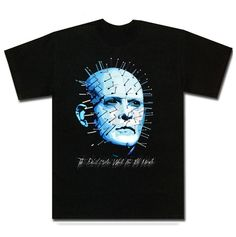 Pinhead Horror Movie T Shirt is available on a Black Cotton Tee. The Pinhead Horror Movie T Shirt is available in all sizes which you can select from the shirt size drop down above. Horror Movie T Shirts, Movie Tees, Horror Movies, Day Of The Tentacle, Cotton Tee, Christian, Mens Tops, Prints, Mansion