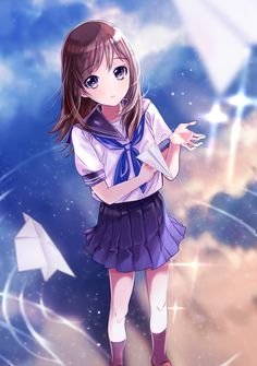 images for anime girls Anime School Girl, Anime Girl Cute, I Love Anime, Anime Art Girl, Anime Girls, Manga Girl, Manga Anime, Anime Comics, Anime Style