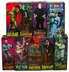 ARTICLE TITLE: Aurora 's Monster Models As many devoted Horror fans also enjoy building model kits of their favorite monst. Sci Fi Horror, Horror Comics, Horror Art, Horror Monsters, Famous Monsters, Bride Of Frankenstein, Classic Monsters, Iconic Photos, Vintage Horror
