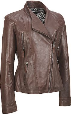 Wilsons Leather Exposed Zip Leather Cycle Jacket  - #WilsonsLeather aka MY KATNISS EVERDEEN JACKET!!!!!!!!!!!!!!!!